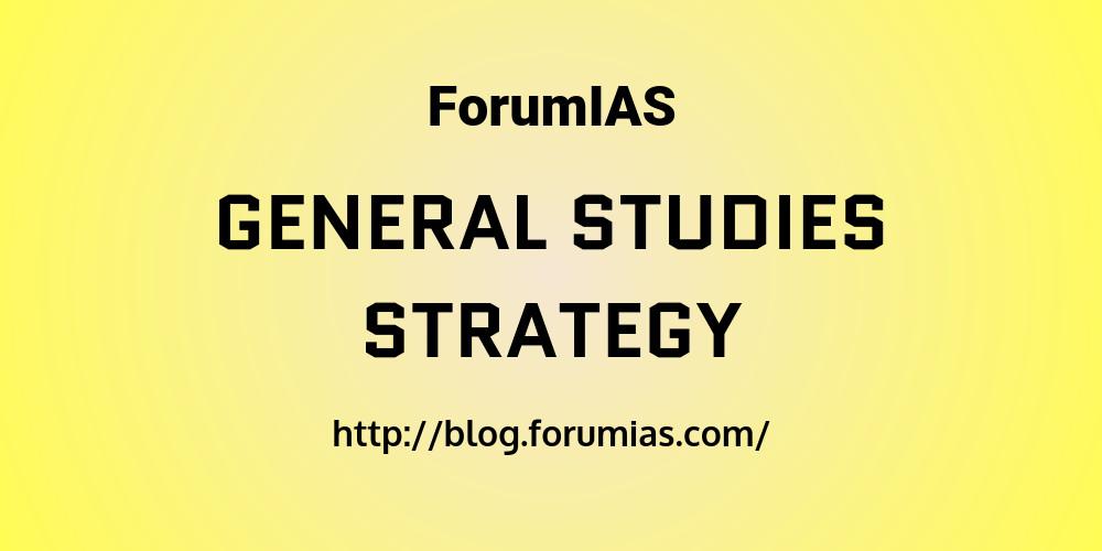 general studies strategy upsc