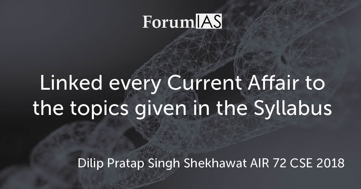 "[Video]""Linked every Current Affair to the topics given in the Syllabus""- Dilip Pratap Singh Shekhawat AIR 72 CSE 2018"