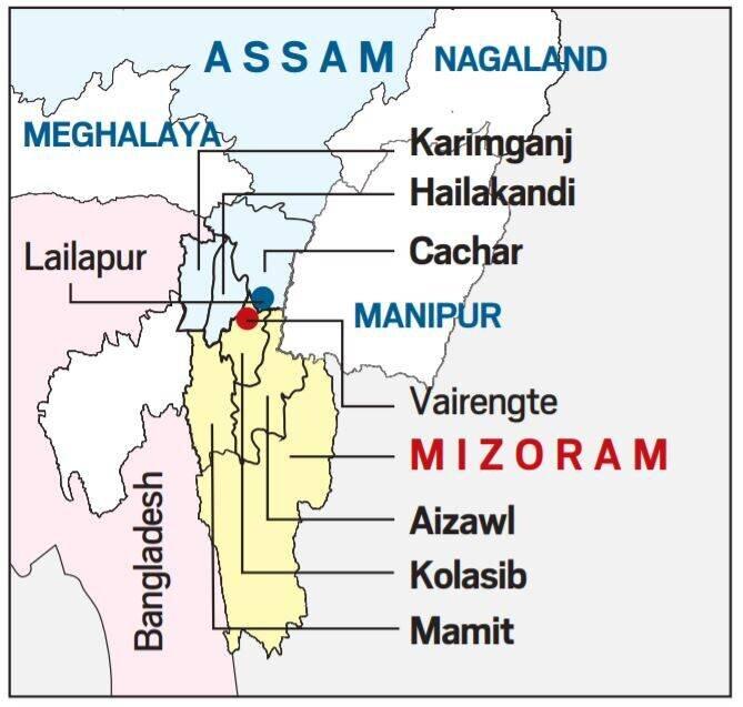 Assam-Mizoram conflict