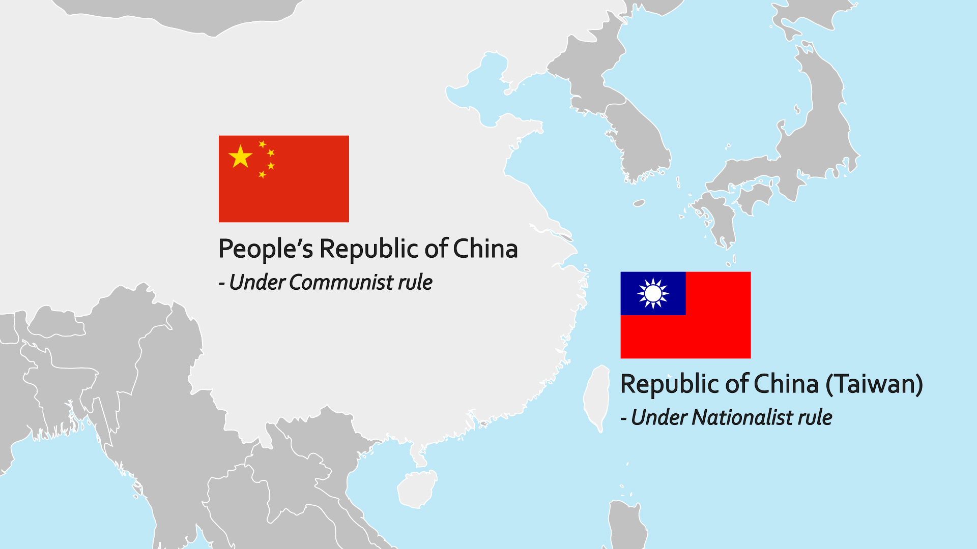 What is the core conflict between China and Taiwan?