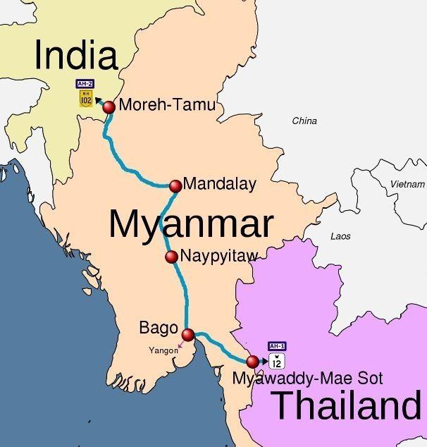 India Thailand Myammar Highway