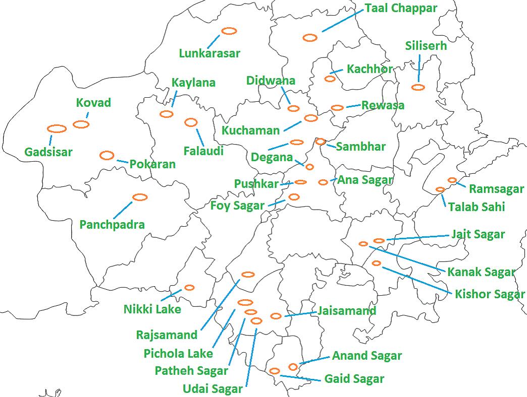 Rajasthan lakes